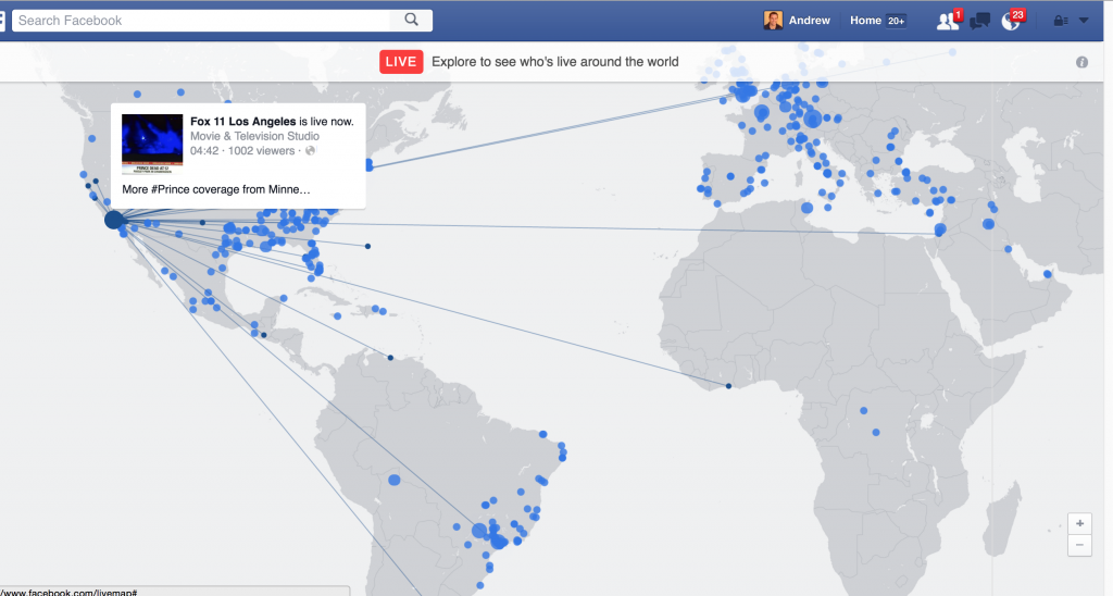 New Facebook Live Features MAP