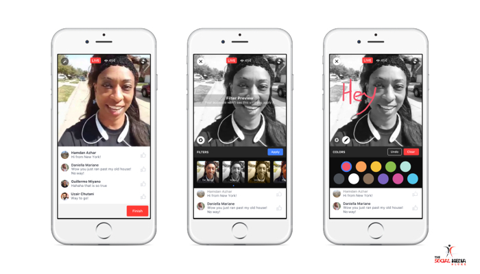 New Facebook Live Features filters