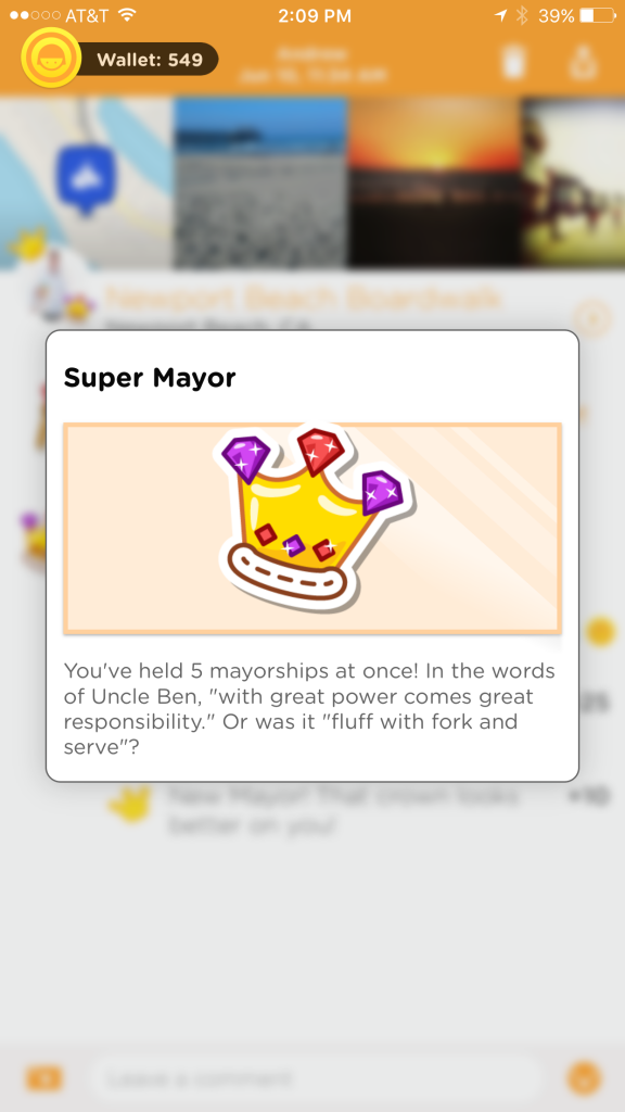 Using Perks on Foursquare's Swarm app