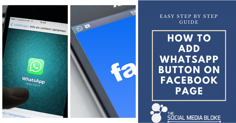 How to add whatsapp button on facebook page